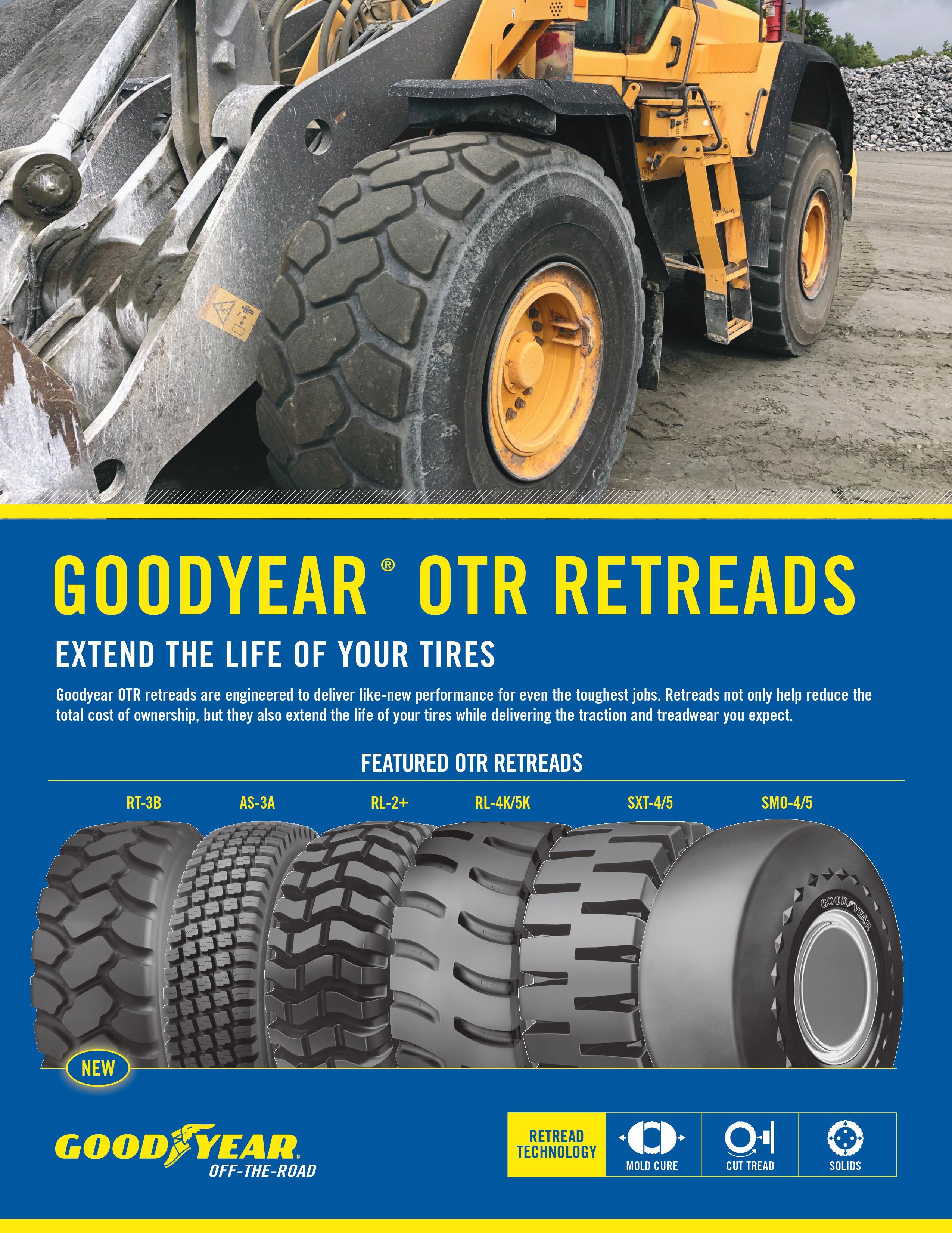 Folha de Vendas dos Recauchutados Goodyear Off-road