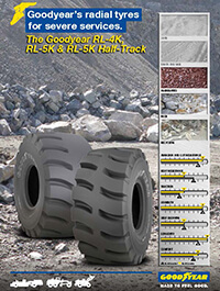 The Goodyear RL-4K/5K and RL-4K/5K Half-Track - Goodyear's radial tyres for severe services