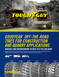 Goodyear Off-the-Road tire for construction and quarry applications