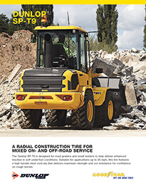 DUNLOP® SP-T9 - A radial construction tire for mixed on and off-road service