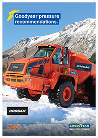 Goodyear pressure recommendations for DOOSAN