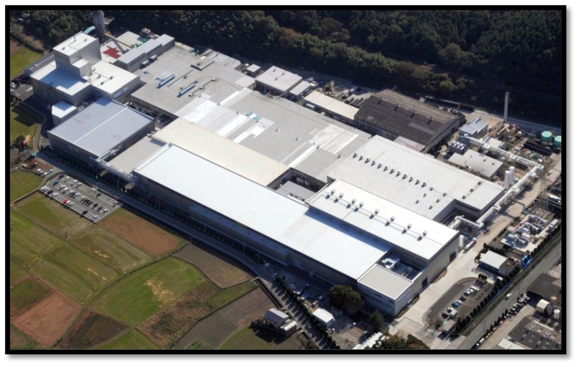 Fabrica gigantică de anvelope din Japonia